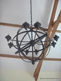 Armilary Sphere Chandalier by Spencer Field Larcombe, Metal, Hot Forged Mild Steel Zinc Sprayed