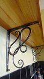 Art nouvous shelf bracket detail by Spencer Field Larcombe, Metal, Hot forged ironwork