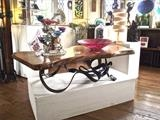 Coffee Table with London Plain by ARTIST BLACKSMITH, Metal