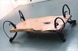 Coffee table with Cedar by spencer field larcombe, Metal, mild steel and cedar