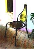 Elven Chair by spencer field larcombe, Metal, mild steel and brass