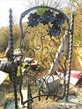 Flower Gate 2 by Spencer Field Larcombe, Metal, Hot Forged Mild Steel Zinc Sprayed