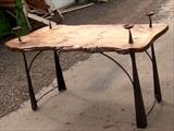 Gandelfs Table by spencer field larcombe, Metal, Elm and Steel and copper