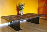 Girder Table by Spencer Field Larcombe, Metal, Mild steel and wood