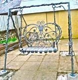 Hanging Garden Seat by Spencer Field Larcombe, Metal, Hot Forged Mild Steel