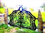 Hares and the Moon Gates by Spencer Field Larcombe, Metal, Hot Forged Mild Steel