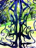 Hares and the Moon Gates detail by Spencer Field Larcombe, Metal, Hot Forged Mild Steel
