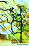 Hedgerow Railing Detail by Spencer Field Larcombe, Metal, Hot Forged Mild Steel