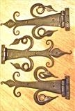 Hinges with Leaves by Spencer Field Larcombe, Metal, Hot Forged Mild Steel