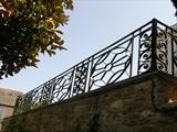 Northcott Lodge Railings by Spencer Field Larcombe, Metal, Hot Zinc sprayed mild Steel