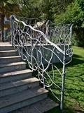 Organic Hedgerow Railings Modbury Devon by Spencer Field Larcombe, Metal, Galvanised and T washed Mild Steel