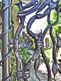 Rill Farm Gate detail 2 by Spencer Field Larcombe, Metal, Hot Forged Mild Steel