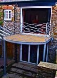Seascape Balcony by Spencer Field Larcombe, Metal, Mild Steel Galvanised
