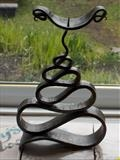 Serpent candlestick by spencer field larcombe, Metal, Hot Forged Mild Steel