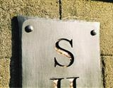 Sharpham Sign by spencer field larcombe, Metal, Forged and Fabricated Mild Steel and copper