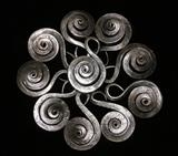 Spiral Shell Pendent by spencer field larcombe, Metal, Hot Forged Mild Steel