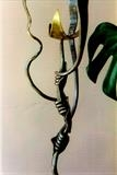 Spring Celebration Candleabra Detail by Spencer Field Larcombe, Metal, Hot Forged Mild Steel and Brass