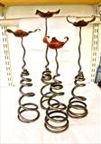 Springy Candlesticks by Spencer Field Larcombe, Metal, Hot Forged Mild Steel and Copper