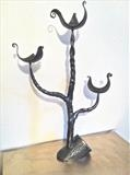 Tree Branch Candleholder by Spencer Field Larcombe, Metal, Hot Forged Mild Steel and Copper