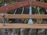 bench detail by spencer field larcombe, Sculpture, Hot Forged Mild Steel and African Hardwood