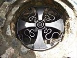 Celtic Well Cover,Staverton. by Spencer Field Larcombe, Metal