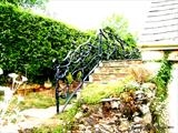 Organic Hedgerow Railings by Spencer Field Larcombe, Metal